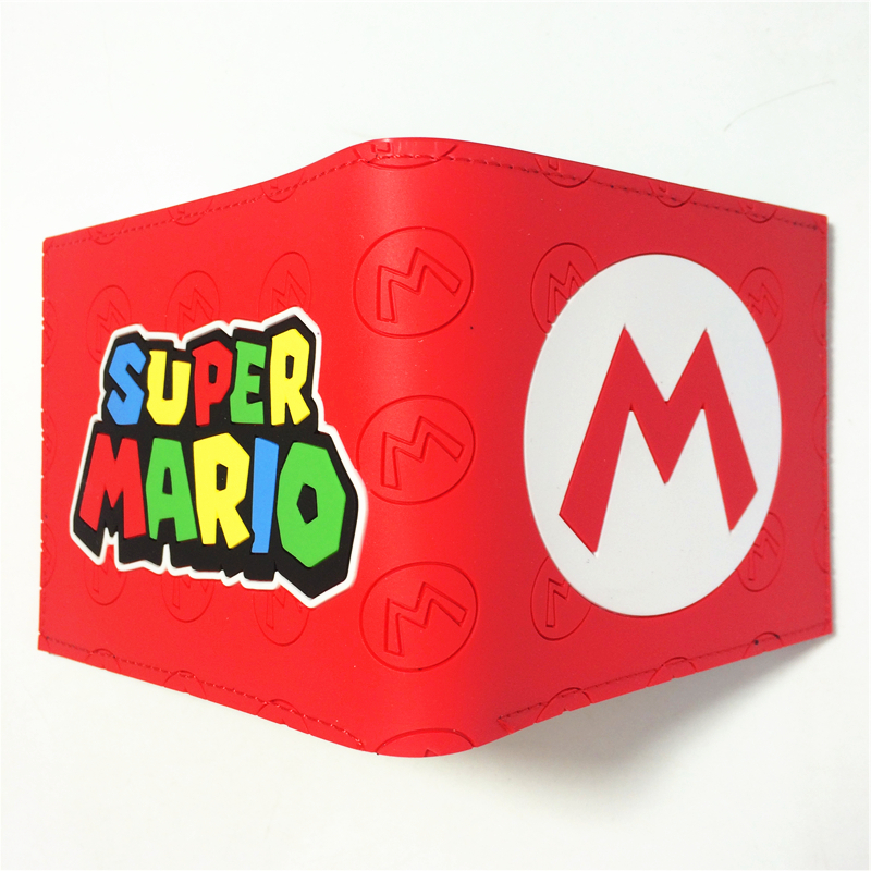 2018 Game Nintendo SUPER MARIO BROS. Logo wallets Purse Multi-Color 12cm