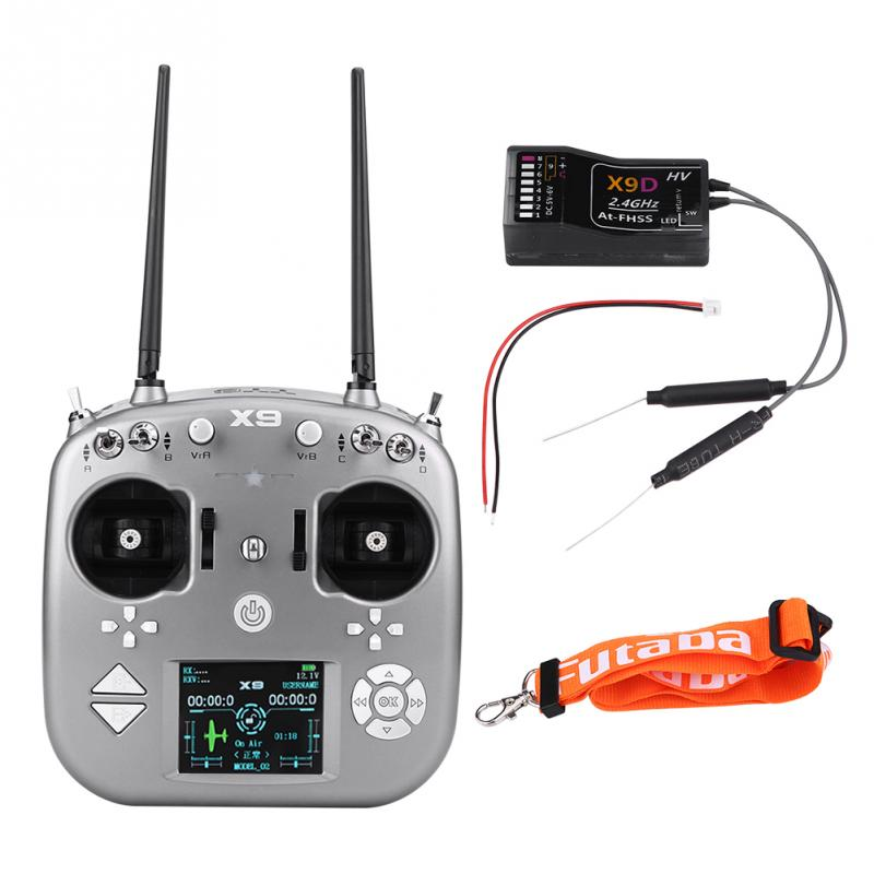 X9 9 Channels Radio Transmitter AT FHSS X9D Receiver for RC Fixed wing Airplane 2 8inch