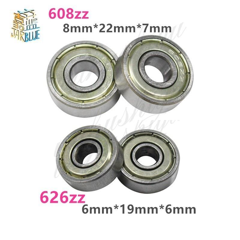 Lot of 10 pcs 626ZZ  Ball Bearings 6mm x 19mm x 6mm