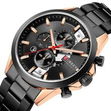 CURREN Fashion Design Watches for Men 2019 Luxury Brand Mens Watch Casual Sport Wristwatch Chronograph Stainless Steel Clock