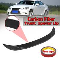 Real Carbon Fiber Rear Trunk Spoiler Lip For Lexus IS250 Sedan 2014 17 Rear Wing Spoiler Rear Trunk Roof Wing 112cm High Glossy