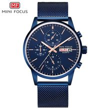 MINI FOCUS Business Mens Watch 2019 Quartz Watches Man Stainless Steel Gold Men Top Brand Luxury Male Clock