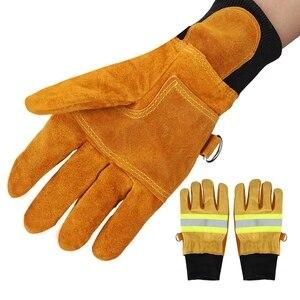 Image 2 - עבודה כפפות ריתוך כפפות אנטי קיטור בטיחות כפפות זוג של פרה עור כפפות חסין אש חום עמיד בטיחות כפפות עבודה