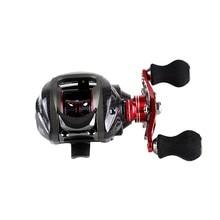 12BB 6,3: 1 левая наживка литая Рыболовная катушка 11 шариковых подшипников+ односторонняя муфта Высокая скорость красный