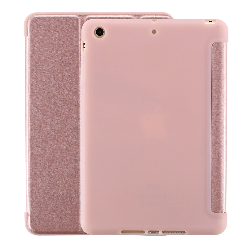 Case For iPad mini 1 2 3 4 Soft Back Cover TPU Leather PU Flip  Smart