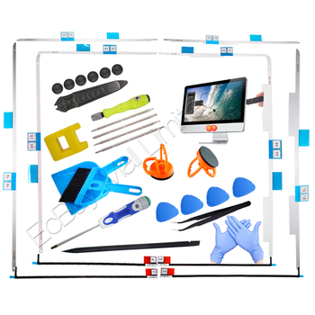10sets lot genuine new a1418 lcd display tape adhesive repair kit for apple imac 21 5 strip glue foam sticker 2012 2017 year 076-1437 076-1422 A1418 A1419 Upgrade A2116 A2115 HDD Replacement SSD Display Tape/Adhesive Strip/open LCD tool for iMac 2721.5