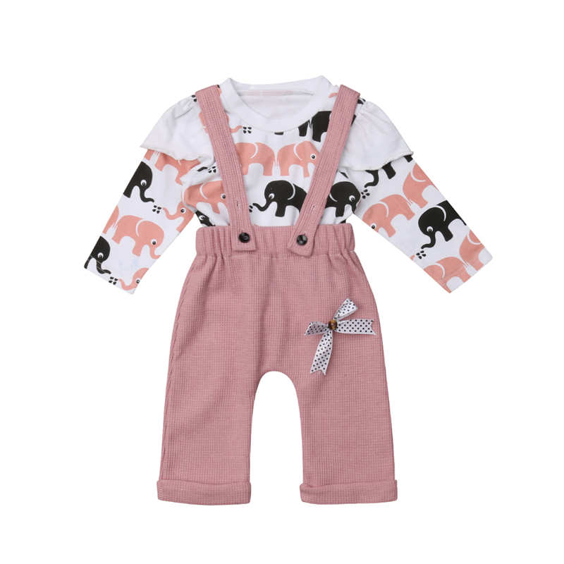 Ambitious Newborn Toddler Kids Baby Girl Cartoon Autumn Sunsuit Set 2pcs Girls Baby Hoodies T-shirt Bib Pants Romper Overalls Outfits Set Last Style Boys' Baby Clothing Mother & Kids