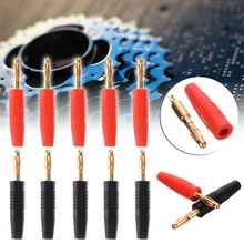 10pcs/set Red & Black 4mm Copper Banana Plugs Electrical Connector 24K Gold Plated for Maximum Signal Strength