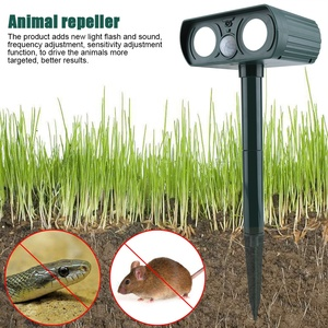 Image 3 - สวนพลังงานแสงอาทิตย์ Ultrasonic Drive Pest RejectAnimal BIRD แมวสุนัข Fox Repeller แบตเตอรี่ในตัว