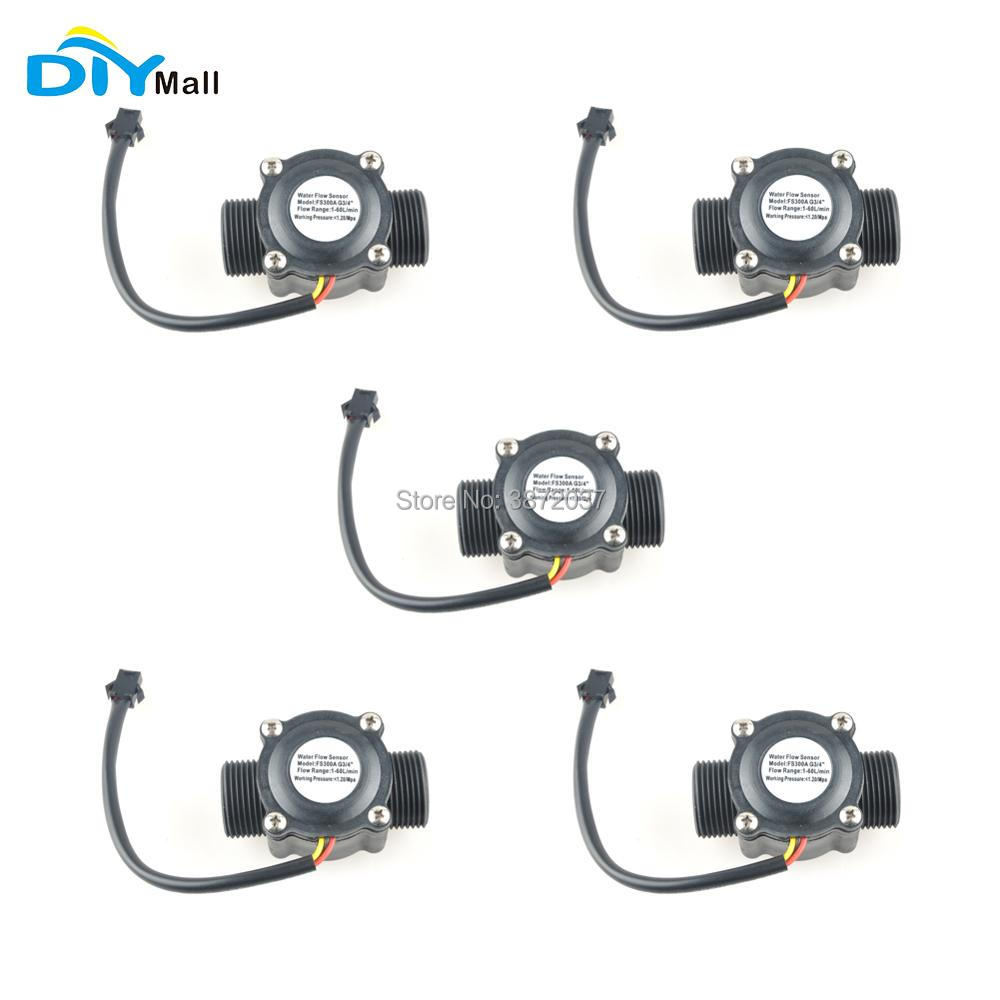 DIYmall 5pcs lot G3 4 Water Flow Sensor Switch 3 4 1 60l min