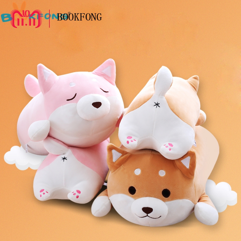 35cm Cute Fat Shiba Inu Dog Plush Toy Stuffed Soft Kawaii Animal Cartoon Pillow Lovely Gift for Kids Baby Children Birthday Gift 1pc 40cm cute husky dog with sweater plush toy soft cartoon animal dog doll pillow for kids children birthday gift