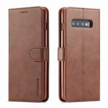 Роскошный чехол-книжка с магнитной застежкой для Samsung Galaxy S10, винтажный кожаный чехол-бумажник высокого качества, чехлы для телефонов SAMSUNG S 10