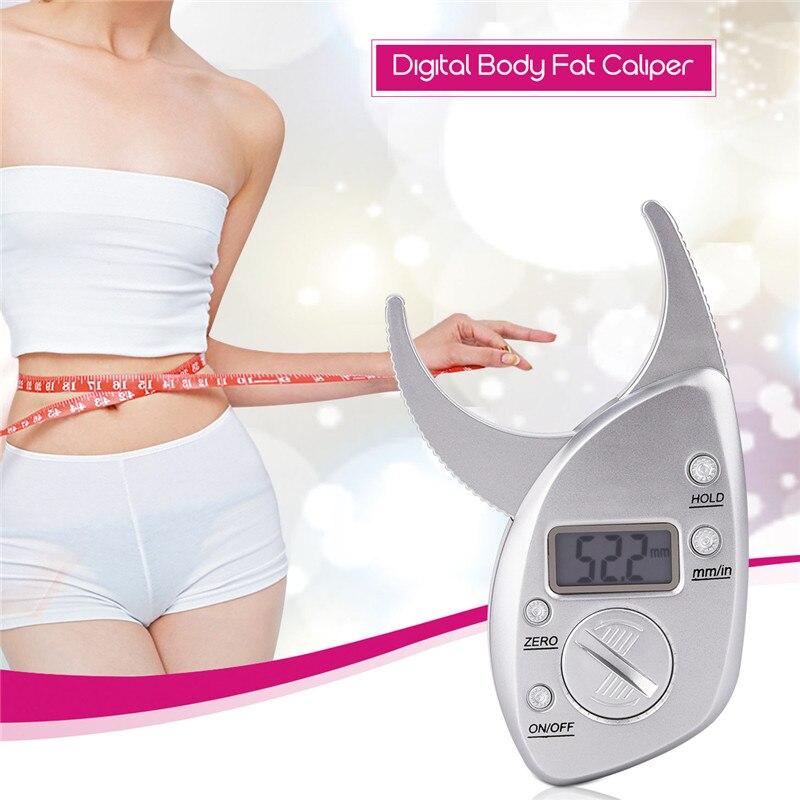 Escalas de Gordura corporal Caliper Tester Aptidão Plicômetro Monitores Analyzer Digital Slimming Fat Medida instrumentos De Medição Eletrônica