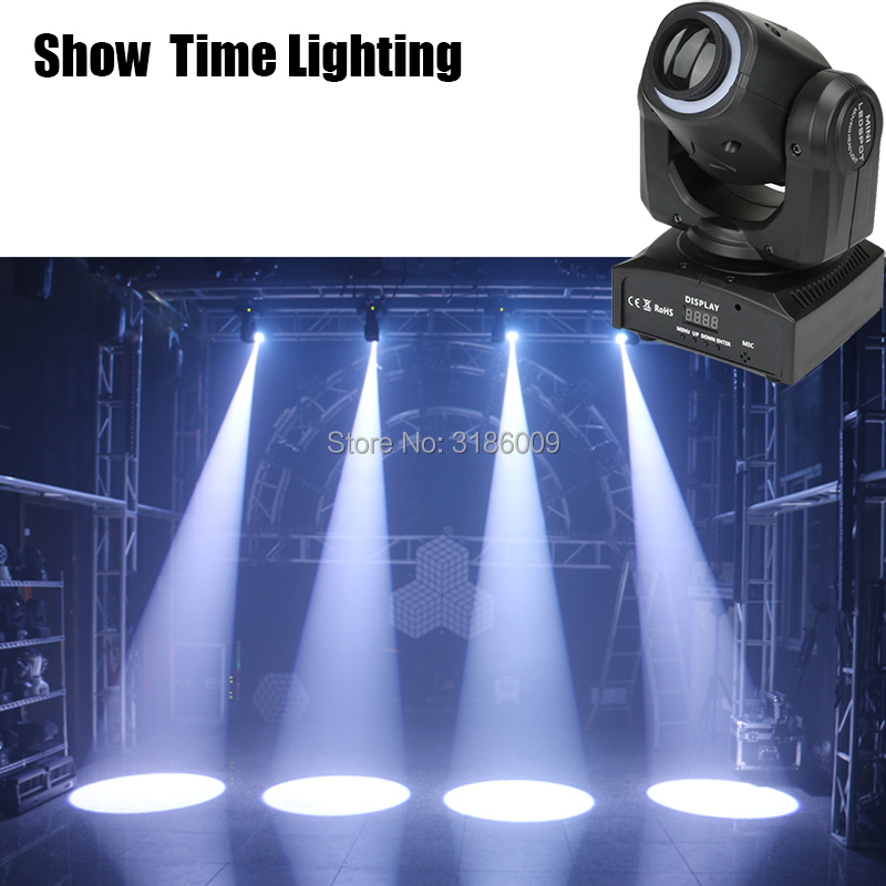Hot sale dj led spot 30W gobos Led moving head with led strip disco lights high bright adjust the image with DMX 512 Show time