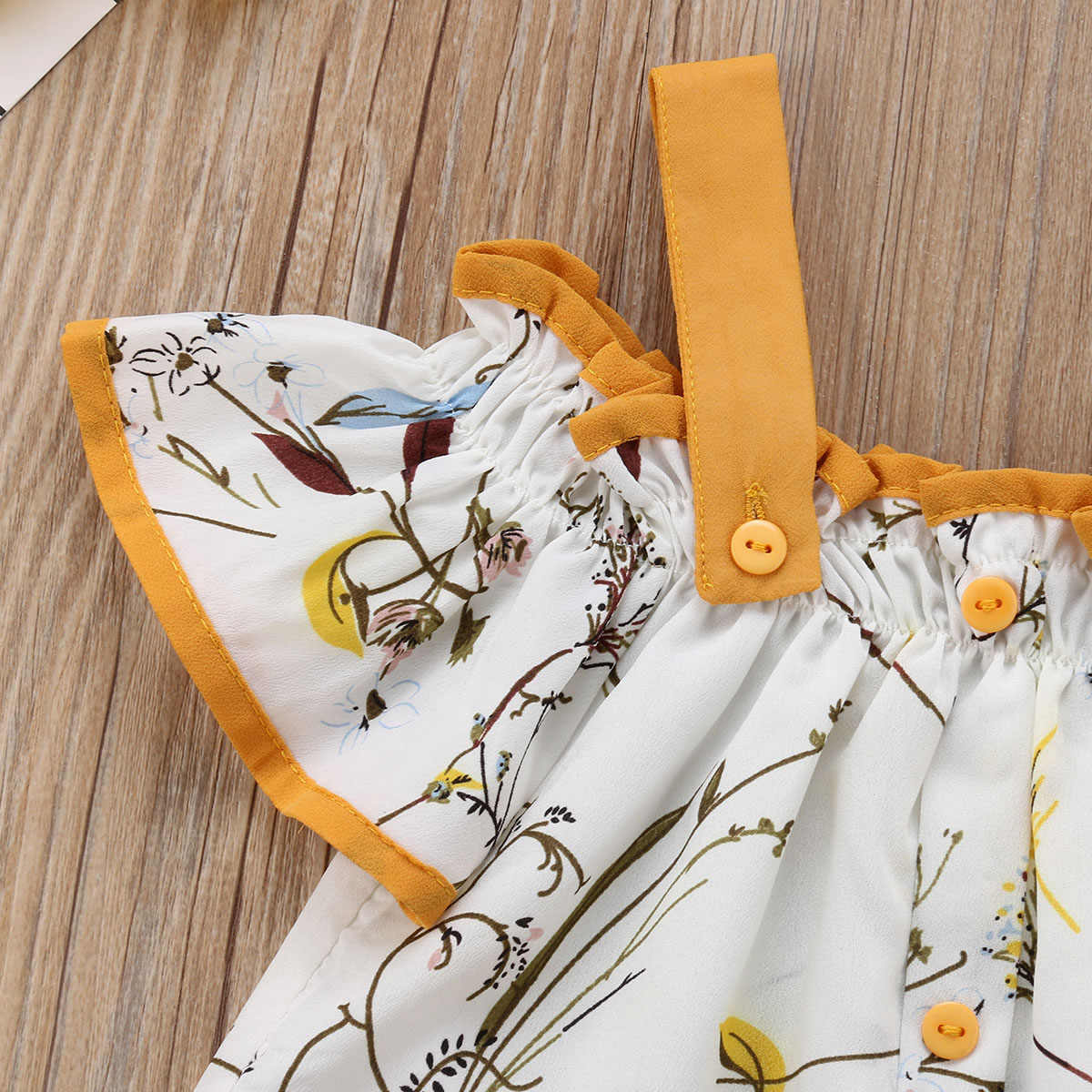 Pudcoco New Brand Kids Baby Girls Strap Floral Tops Loose Flared Long Pants Summer Clothes Outfits 2pcs