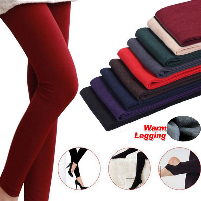2019 Neueste Stil Fashion Casual Herbst/winter Multicolor Frauen Stretch Leggings Dicke Hose Mit Futter Skinny Slim Leggings Heller Glanz