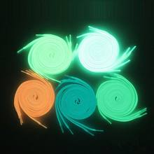 1 Пара светящихся шнурков плоские шнурки светится в темноте флуоресцентная обувь вечерние шнурки для спортивной обуви кроссовки повседневная обувь