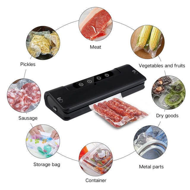 Food Vacuum Sealer Machine 220V 110V For Food Saver With   Home Electric Vacuum Sealer Packaging Machine