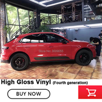 Highest Quality dark Red Gloss Vinyl Car Wrap Air Bubble Free Shiny Red Gloss Film For Vehicle Wrapping Warranty 5 years quality