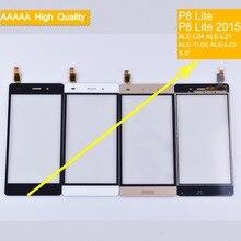 10Pcs/lot For Huawei P8 Lite ALE-L04 ALE-L21 ALE-TL00 ALE-L23 Touch Screen Panel Sensor Digitizer Front Glass Touchscreen