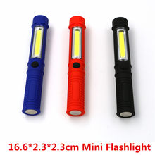 New COB LED Mini Pen Multifunction LED Torch Light COB Handle Work Flashlight Cob Square Work Hand Torch Flashlight With Magnet(China)