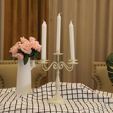 Металлический Подсвечник В Стиле Ретро Элегантный Подсвечник настольный декор для отеля Свадебный западный ресторан свеча ужин