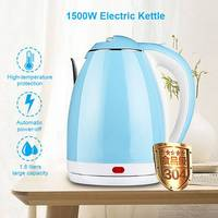 1500W Electric Kettle Water Heater Boiler Stainless Steel Cordless Tea Kettle 1.8 Liter with Fast Boil