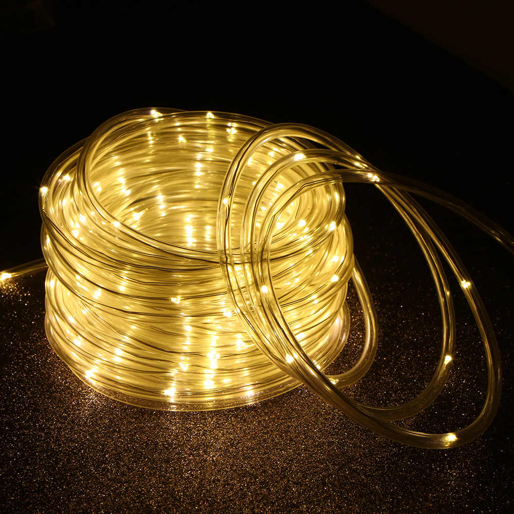 8 c световыми эффектами и другими условиями Рождество IP65 Водонепроницаемый подарок сада 12 M/39.4Ft 7,2 Вт 120 светодиодный солнечный энергетический канат лампа для газона