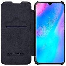 Para huawei p30 pro caso de couro nillkin qin série carteira flip capa para huawei p30 pro caso de couro genuíno telefone capa