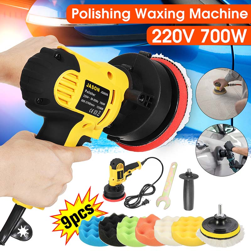 Car Polisher Grinder 700W Variable Speed 3000rpm 100mm Car Paint Care Tool Polishing Machine Sander 220V Electric Waxing Machine