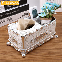 Dropshipping Paper Rack multifunction Storage Box Tissue Box Container Napkin Tissue Holder Home Decoration Ornaments Crafts