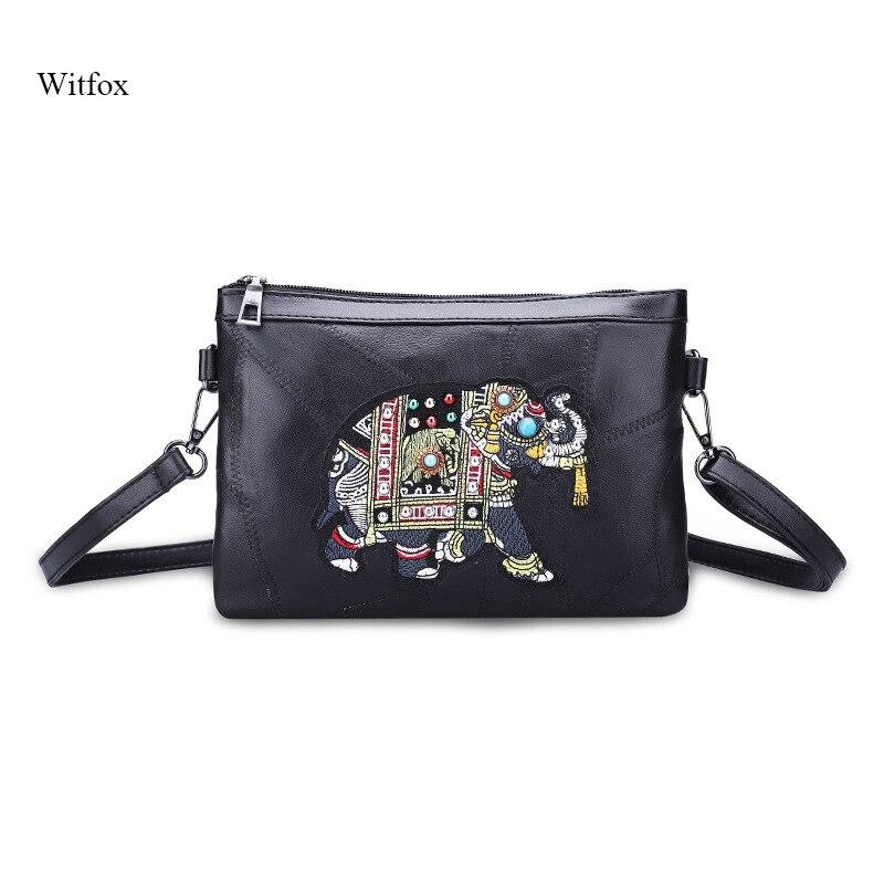 Gepäck & Taschen Kupplungen Witfox Leder Brieftasche Frauen 2019 Luxus Schafe Haut Echtem Leder Schulter Tasche Stickerei Elefanten Muster Damen Taschen Weibliche