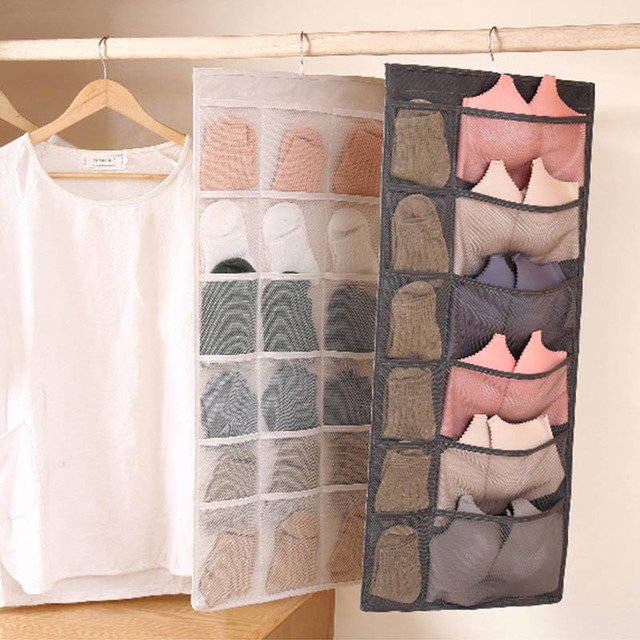 1Pcs Space Save Double-Sided Underwear Hanging Bag Multifunction Washable Bra Storage Organizer Bedroom Living Room Supplies
