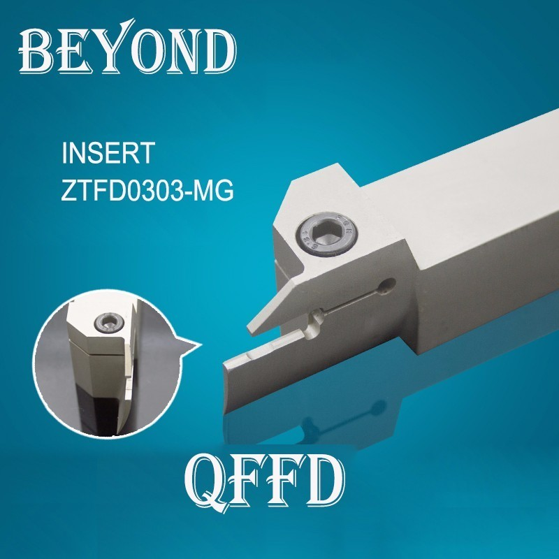 turning tool lathe set 25mm OYYU QFFD2525R grooving cutting holder use carbide insert ZTFD0303 MG original
