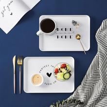 Поднос в скандинавском стиле, поднос для десерта, чая, завтрака, хлеба, закусок, поднос для хранения, держатель для еды, кухонные квадратные тарелки, аксессуары