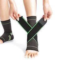 1 пара лодыжки Brace сжатия поддержка рукав для мужчин женщин лодыжки растяжение травм восстановления сустава боль С давление группа