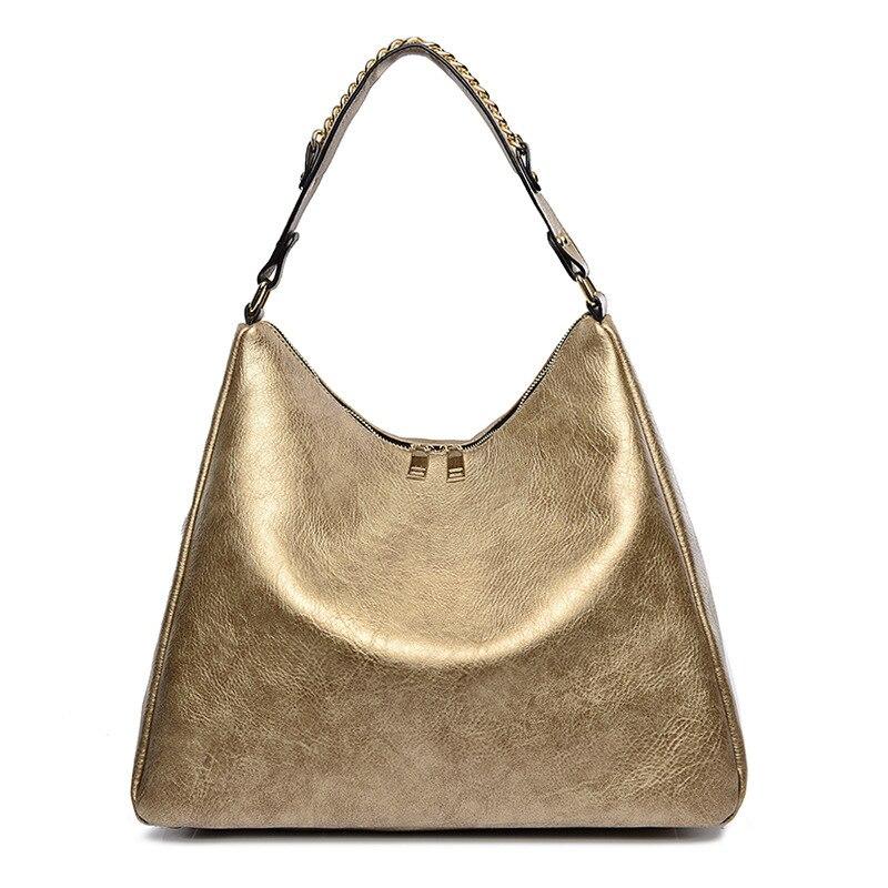 Women Handbags Hobos Design Pu Oil Leather Ladies Shoulder Bags Female Girl Lager Luxury Crossbody Bag