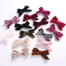 Hot Fashion Bow Girl Hair Accessories Velvet Clips Sweet Cute Kawaii Headwear Christmas Gifts