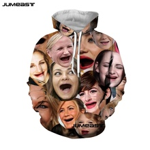 Jumeast New Arrival Funny Pattern 3D Print Men/Women Hoodie Interesting Expression Hooded Sweatshirt Long Sleeves Sport Pullover