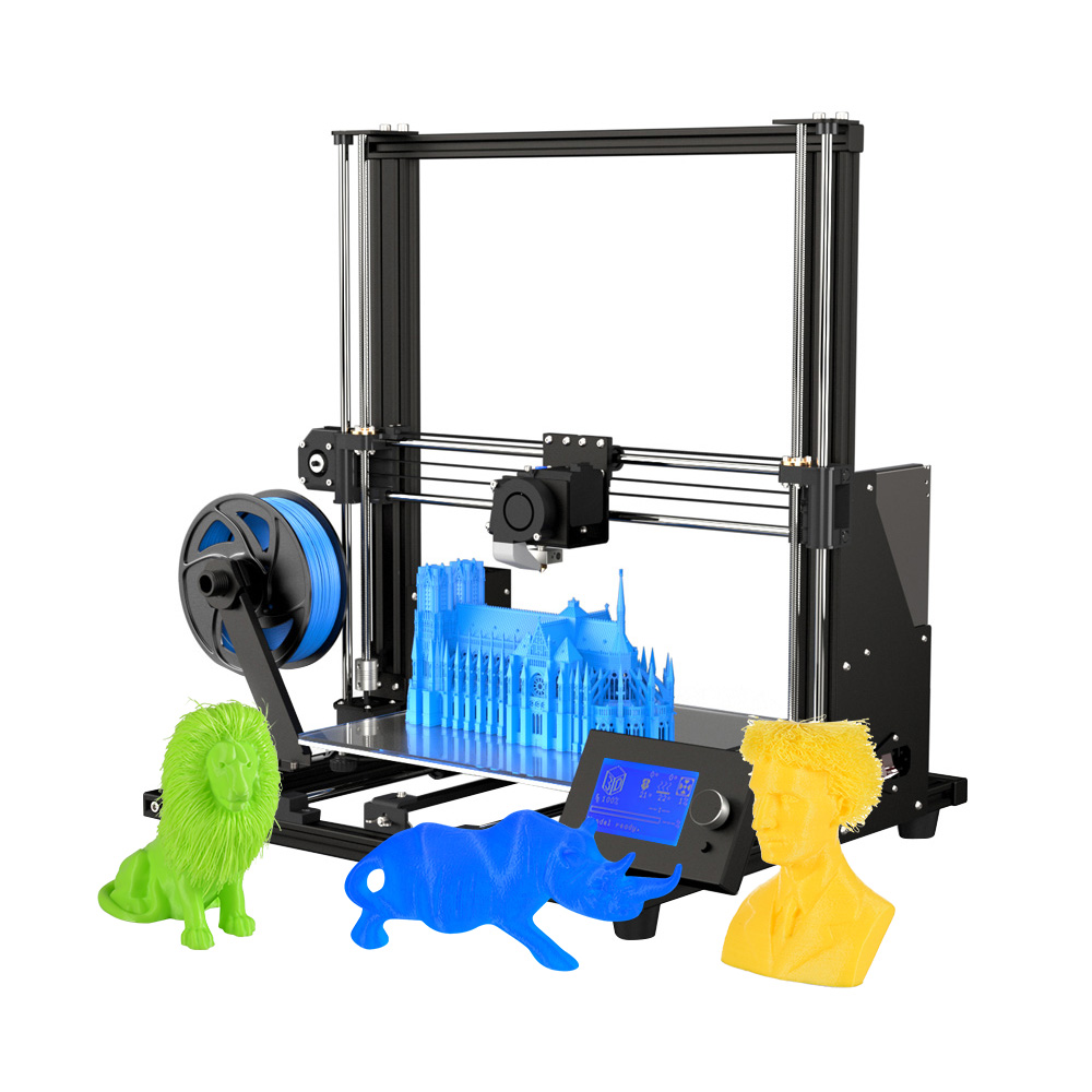 Anet A8 Plus Upgraded High precision 3D Printer Half DIY Semi assembly 300*300*350mm Large Print Size Aluminum Alloy Frame-in 3D Printers from Computer & Office    1