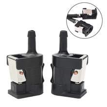 2 шт. разъем топливного бака для Yamaha подвесной моторный двигатель 6 мм шланг черный пластик 2,1x3,3x6,1 см стрелка, маркированная на корпусе