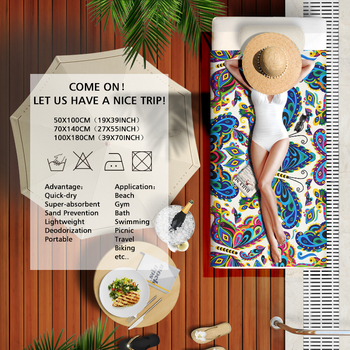 Microfine Microfiber Beach Towel Machine Quick Dry Adult Bath Towel Gym Sport Hiking Yoga Mat Large Blanket Travel Camping 4