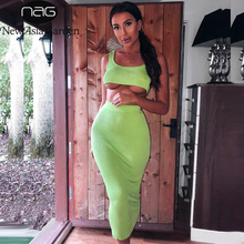 NewAsia Summer Two Piece Set Crop Top And Skirt 2 Women Outfits Sexy Ensemble Femme Casual Matching Sets