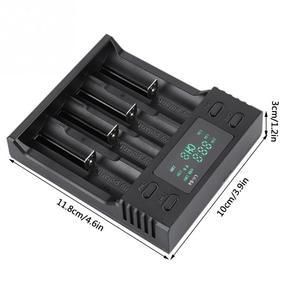 Image 4 - Зарядное устройство LiitoKala 5 В, 2 а постоянного тока, 4 слота, с дисплеем