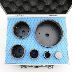 Image 2 - DT DIATOOL 6pcs/ערכת ואקום Brazed יהלומי קידוח ליבה סטי 5/8 11 חוט חור מסור מעורב גודל בתוספת 25mm אצבע Bits אריח