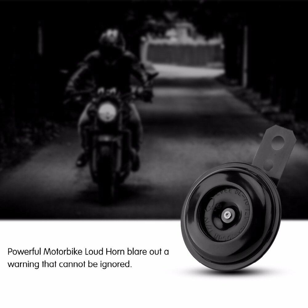 Мотоцикл электрический рог Комплект Универсальный водонепроницаемый 12 В 1.5A 105db круглый Громкий Рог колонки для скутера мопеда грязи велосипед ATV