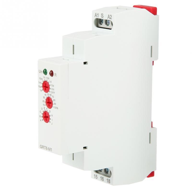 Rel/é de tiempo de retardo multifuncional GRT8-M1 con 10 funciones DIN Rail Mount AC 220V