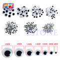 mocai 520PCS/set 6mm /8mm /10mm /12mm/ 15mm/20mm the Eye For Toy Dolls Googly Eyes with Self-adhesive Used For Doll Accessories