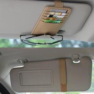 Image 3 - Samochodowa osłona przeciwsłoneczna Point organizer kieszeniowy torba typu worek etui na okulary uchwyt samochodowy stylizacja