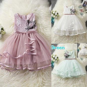 21ae31495e3 Pudcoco платье для девочек От 6 месяцев до 5 лет новорожденных Малыш для маленьких  девочек принцесса Цветы вечерние Туту платье с фатиновой юбко.